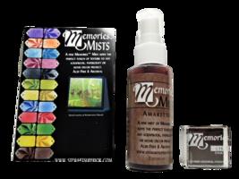 "Memories Mists, Includes 2 fl. oz. Merlot Mist and 1""x1"" Chalk Ink Pad"