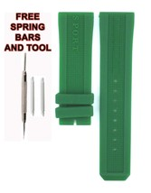 Compatible Burberry Sport BU7764 23mm Green Diver Rubber Watch Strap BRR101 - $28.71