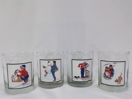 ORIGINAL Vintage 1979 Arby's Pepsi Norman Rockwell Glasses Lot of 4 - $18.49