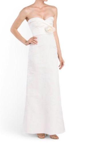 NEW VALENTINO Silk Strapless Rosette Wedding Gown (Size 42) - MSRP $6,540.00!