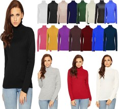 Womens Ribbed Polo Neck Jumper Ladies Long Sleeve Warm Knitted Stretch Top - $8.65+