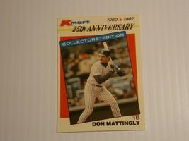 1987 Topps Kmart 25th Anniversary Don Mattingly #28 New York Yankees - $1.50