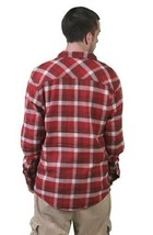 Kr3w Skateboarding Mens Red Grants Flannel Long Sleeve Button Up Down Shirt NWT image 2
