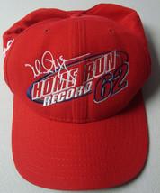 Vintage 1998 New Era M. McGwire HR Record Breaker 62 Snapback Lid Hat Adult M/L - $7.21