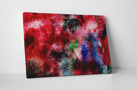 "Pixel Mosaic Abstract Art Gallery Wrapped Canvas Print 30""x20"" or 20""x16"" - $42.52+"
