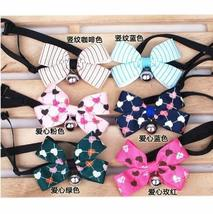 [Heart] Bowknot Collar/Bow-Tie with Bell for Cats & Dogs(Random Color)