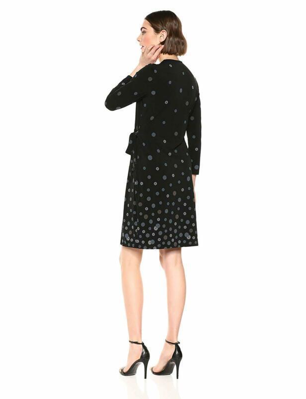 Anne Klein Women'S Classic V-Neck Faux Wrap Dress image 3