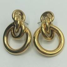 Vintage Knot Post Dangle Earrings - $14.85