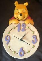 Extremely Rare! Walt Disney Winnie The Pooh Ceramics Wall Clock - $148.50