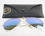 RAY BAN Aviator SUNGLASSES with case - NWT - Large Metal - made in ITALY