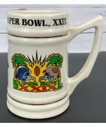 1995 Super Bowl XXIX Ceramic Stein Chargers v 49ers NFL Football Vintage... - $25.55
