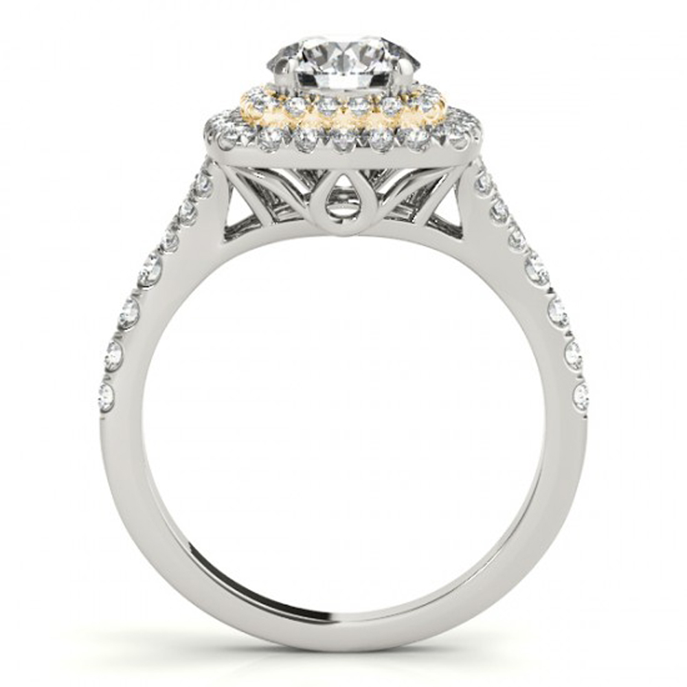 10k White Gold Plated 925 Silver Round Cut Sim Diamond Bridal Wedding Ring Set
