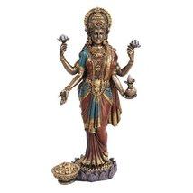 PTC 10 Inch Lakshmi Mythological Indian Hindu Goddess Statue Figurine - £26.76 GBP