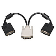 Tripp Lite P120-001-2 DVI to 2 x VGA Splitter Cable - Black - $21.78