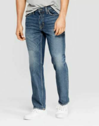 Goodfellow&Co Men's Straight Fit Jeans Medium Vintage Wash 33x30