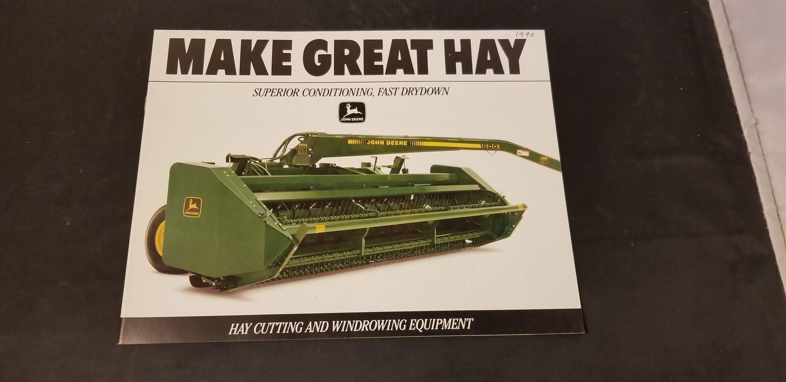 1989 John Deere Hay Cutting & Windrowing Equipment Brochure 3430-3830 & More - $9.62