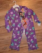 New Girls Disney Faries 2 pc Shirt & Pants Purple Pajamas Set ~Sz XS(4/5) - $12.22