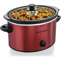 Hamilton Beach 3 Quart Slow Cooker | Model 33230 Red Crock Pot Home Appl... - $61.77
