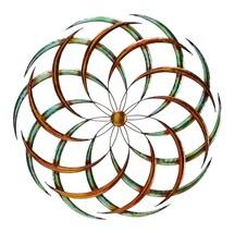 Benzara BM05386 Modern Circular Metal Wall Decor Multicolor  - $47.99