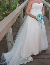 Wedding Gown, David's Bridal, WG3586, Strapless, Size 14 Altered - $250.00