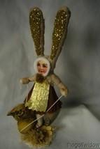 Vintage Inspired Spun Cotton, Chick Rider Bunny Girl image 1