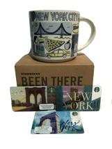 Starbucks NYC Coffee Mug Cup Been There Series The Big Apple 3 Bonus - $36.62