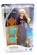 Disneys Frozen 2 Elsa Doll- Elsas Throne Set From Hasbro 7 Toy Bundle - $42.99