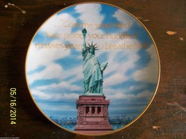 Statue Of Liberty Collector Plate michael hagel LOW number 1st Issue Go... - $19.80