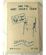 Vtg JAMY Retro Orange Vinyl Cushions CHILD CHAIR Mid-Century NEW Metal L... - $167.30