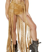 Desert Suede Banded Open Front Rave Skirt - $59.39