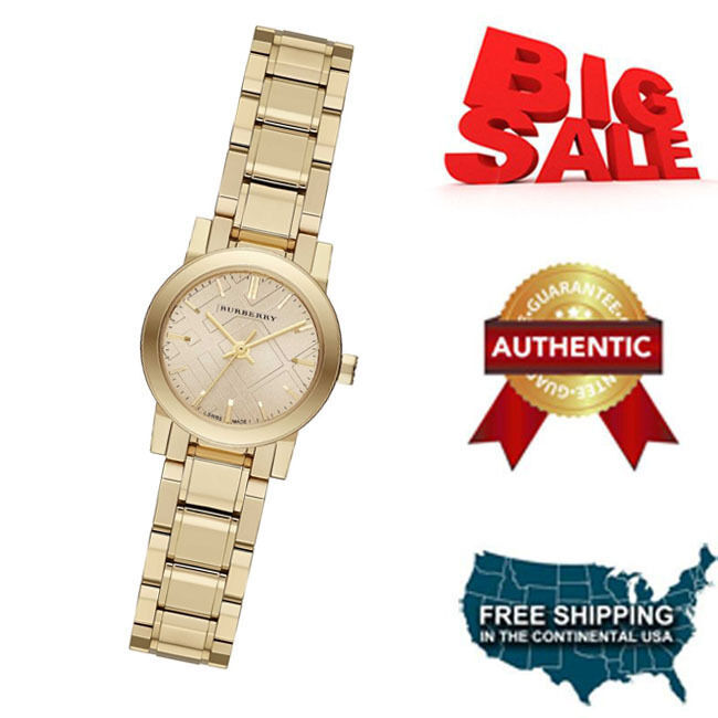 NEW Burberry  BU9227  Gold / Gold Stainless Steel Analog Quartz Women's Watch image 1