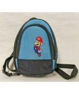 Super Mario Mini Backpack Carry Case Shoulder Bag Blue Black Nintendo  - $14.84
