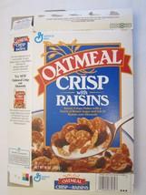 Empty GENERAL MILLS Cereal Box 1992 OATMEAL CRISP with RAISINS 15 oz Ser... - $10.83