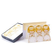Hallmark Religious Christmas Boxed Cards, Three Angels 16 Cards and 17 E... - $14.67