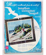JONATHAN LIVIINGSTON SEAGULL - Vintage 1973 Stamped Picture on Homespun - $6.00