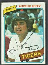 Detroit Tigers Aurelio Lopez 1980 Topps Baseball Card 101  - $0.50