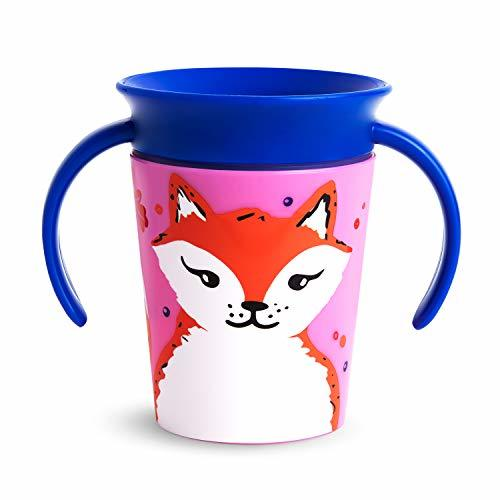 Munchkin Miracle 360 WildLove Trainer Sippy Cup, 6 Ounce, Red Fox