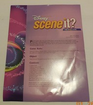 Scene it Disney Edition DVD Board Game Replacement Instructions - $9.50