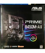 Asus - PRIME B450M-A II - AMD AM4 Micro ATX 128GB DDR4 4400 Motherboard  - $118.75