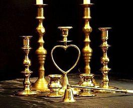 Candlestick Holders Vintage 8 Piece set AA18-1015 image 3