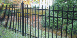 ALUMINUM  FENCE SPEAR TOP 60 inch x 6ft ASSEMBLED PANEL POOL CODE Read D... - $64.00