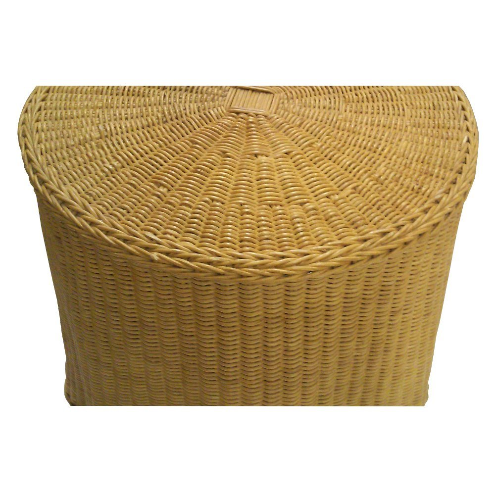 Wavy Wicker Skirted Accent Table