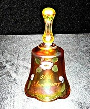 Fenton Heavy etched 50th Anniversary glass Bell design USA AA19-LD11929 Vintage image 2