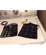 M.A.C. MAC cosmetics small purse plaid blue green red and New Small MAC ... - $5.35
