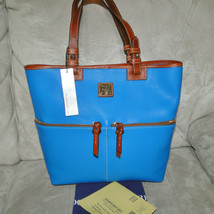 Dooney & Bourke Pebble Leather Convertible Shopper ICE BLUE