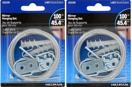2~New! Hillman AnchorWire Steel Extra Heavy Mirror Holder Kit 121130 - $14.29