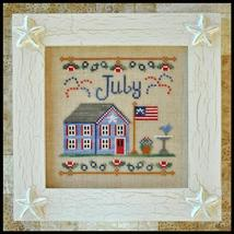 July Cottage of the Month Series cross stitch chart Country Cottage Needleworks - $5.40
