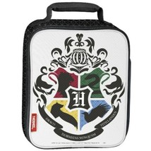 Harry Potter Lunch Bag Thermos Hogwarts Coat Of Arms School Of Wizardry NWT NEW - $14.01