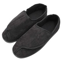 Mens Diabetic Slippers Extra Wide Memory Foam Comfort House Shoes with A... - $37.49