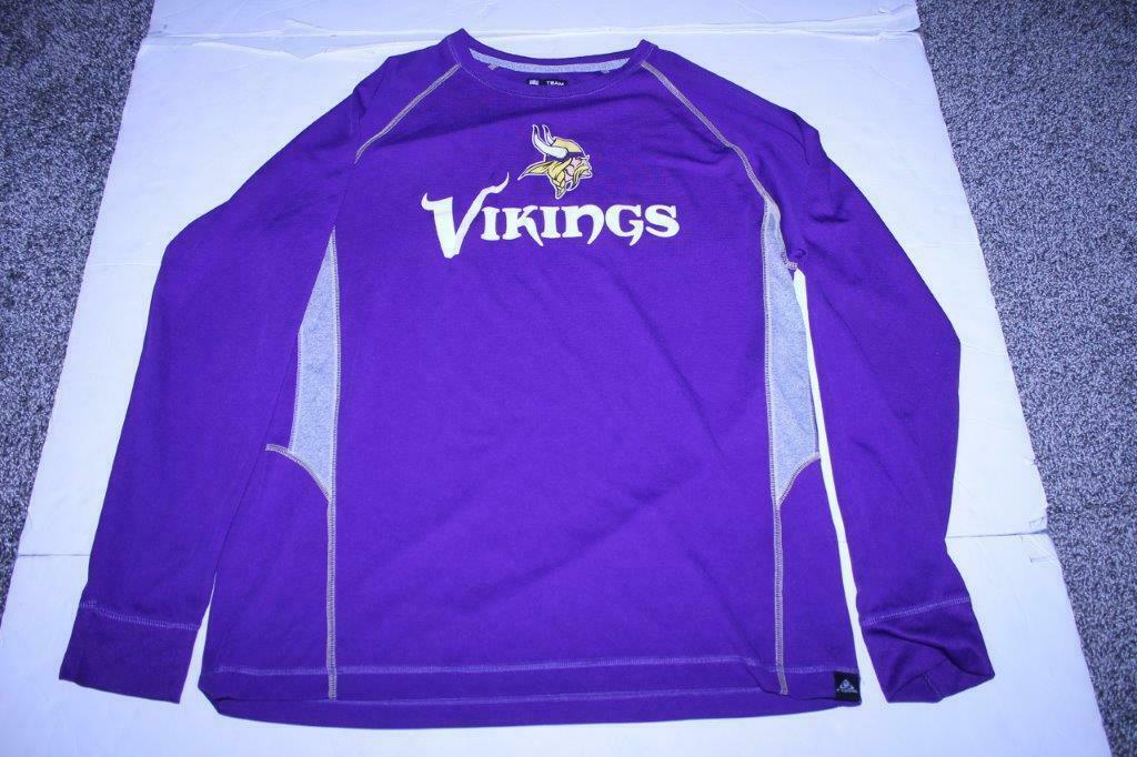 Men's Minnesota Vikings L L/S Athletic Shirt (Purple) NFL Team Apparel - $18.69